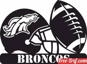 download Denver Broncos NFL helmet LOGO free ready for cut