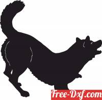 download Barking dog silhouette free ready for cut