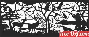 download Hunting scene elk deer forest free ready for cut