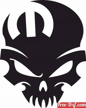 download Mopar Skull free ready for cut