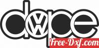 download volkswagen dope Logo free ready for cut