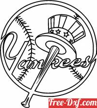 download New York Yankees logo free ready for cut