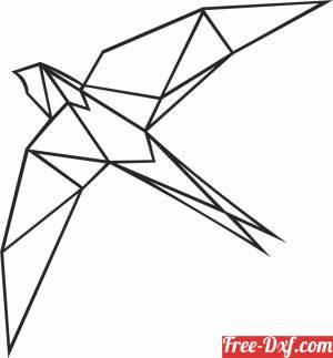 download Geometric Polygon bird free ready for cut