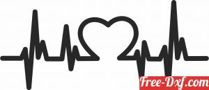 download love beats heart sign free ready for cut