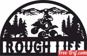 download Rough life quad scene art free ready for cut