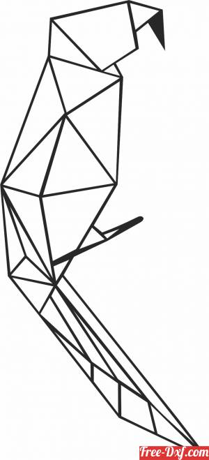 download Geometric Polygon parrot free ready for cut
