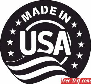 download Made in USA sign with flag free ready for cut