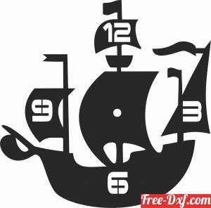 download ship Wall Clock free ready for cut