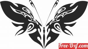 download Butterfly art free ready for cut