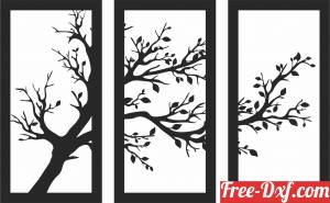 download Tree panels wall decor art free ready for cut