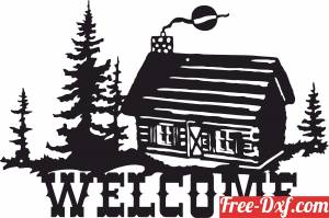 download welcome sign old home scene free ready for cut