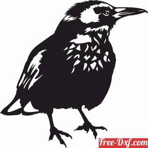 download Bird wall decor Home Decoration free ready for cut