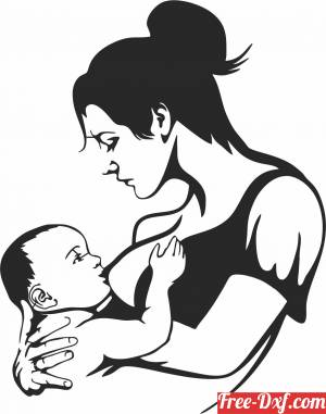 download Mother breast feeding her baby clipart free ready for cut