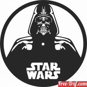 download dark vador star wars Wall Clock free ready for cut