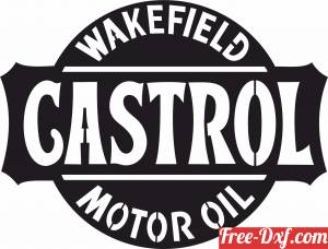 download Castrol Motor Oil Logo Wakefield Retro Sign free ready for cut