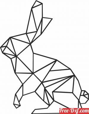 download Geometric Polygon rabbit free ready for cut