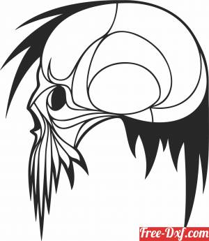 download vector Skull cliparts free ready for cut