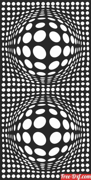 download decorative 3d panel screen pattern art free ready for cut