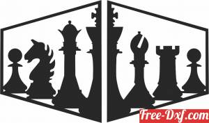 download chess wall decor free ready for cut