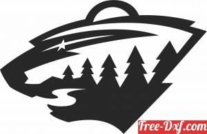 download Minnesota Wild  ice hockey NHL team logo free ready for cut