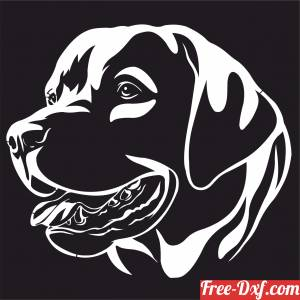 download labrador Dogs wall decor free ready for cut
