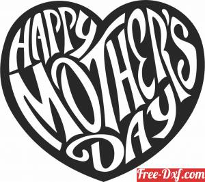 download happy mothers day heart free ready for cut