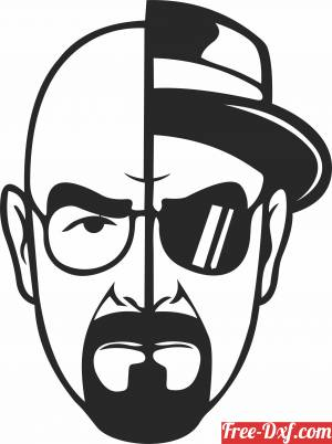 download Walter White Heisenberg clipart free ready for cut