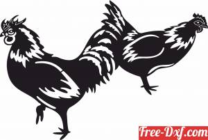 download Rooster Chicken Garden Farm decoration free ready for cut