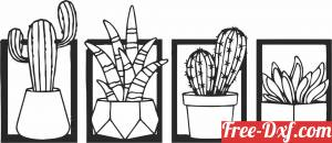 download Cactus succulents plant pot free ready for cut