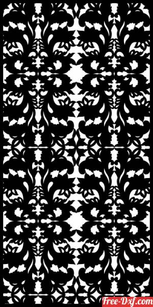 download decorative panel wall separator door pattern free ready for cut