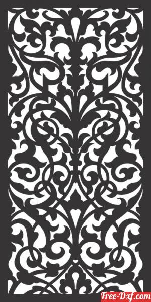 download Decorative wall screen panels pattern door free ready for cut