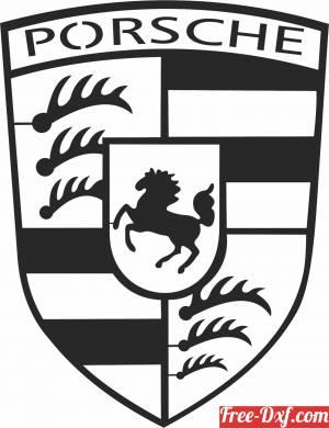 download Porsche logo free ready for cut