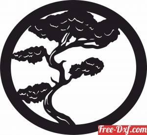 download bonsai tree wall decor art free ready for cut