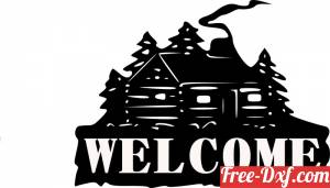 download welcome house sign free ready for cut