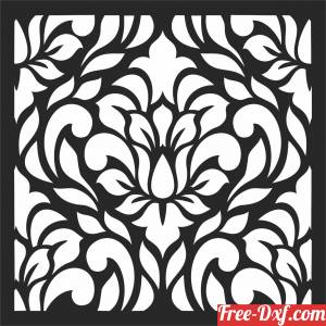 download Decorative floral wall pattern free ready for cut
