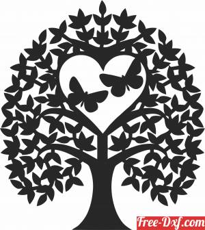 download Butterflies Tree Of Love free ready for cut