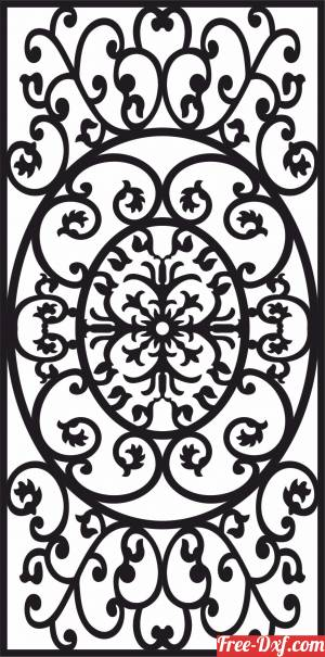 download panel decorative wall screen pattern free ready for cut