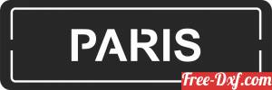 download paris wall plaque sign free ready for cut