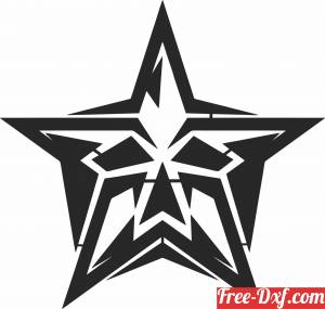 download star Skull cliparts free ready for cut