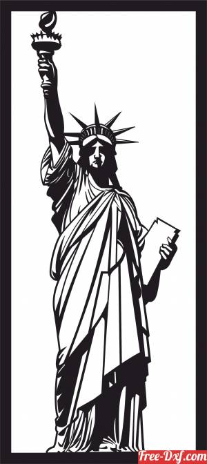 download Statue of Liberty Statue Home Decor free ready for cut