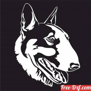 download Bull Terrier Dogs wall decor free ready for cut