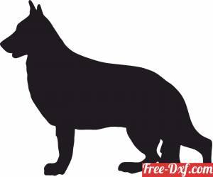 download DOG silhouette german shepherd free ready for cut