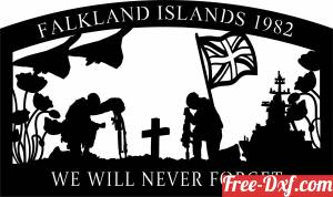 download we will never forget falkland islands free ready for cut