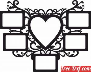 download Picture Frame Holder memories for couple married free ready for cut
