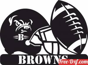 download Cleveland Browns NFL helmet LOGO free ready for cut