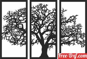 download Tree panels wall decor free ready for cut