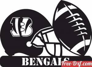 download Cincinnati Bengals NFL helmet LOGO free ready for cut