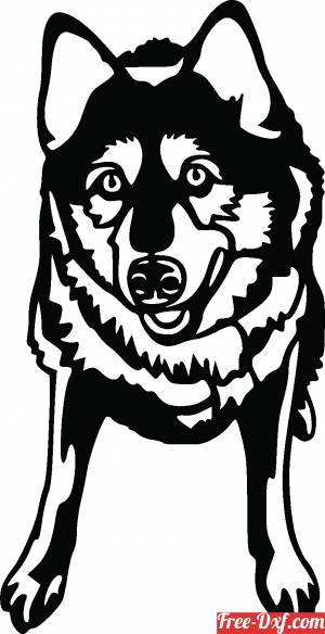 download wolf clipart cutting silhouette free ready for cut