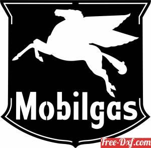 download Mobilgas Pegasus Logo Sign free ready for cut