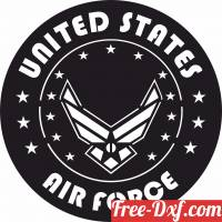 download United states air force logo free ready for cut